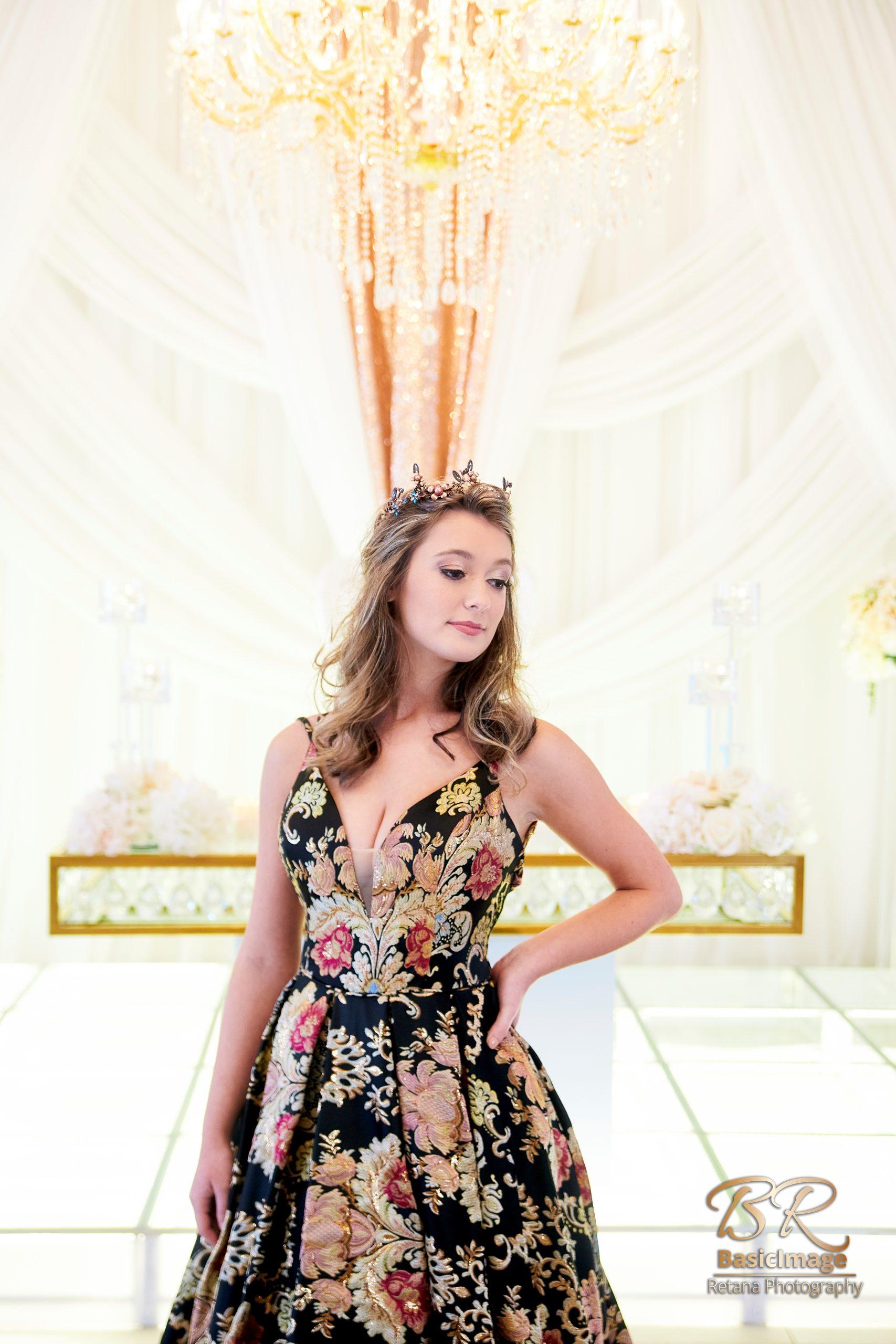 LeVenue front ballroom model pose close up