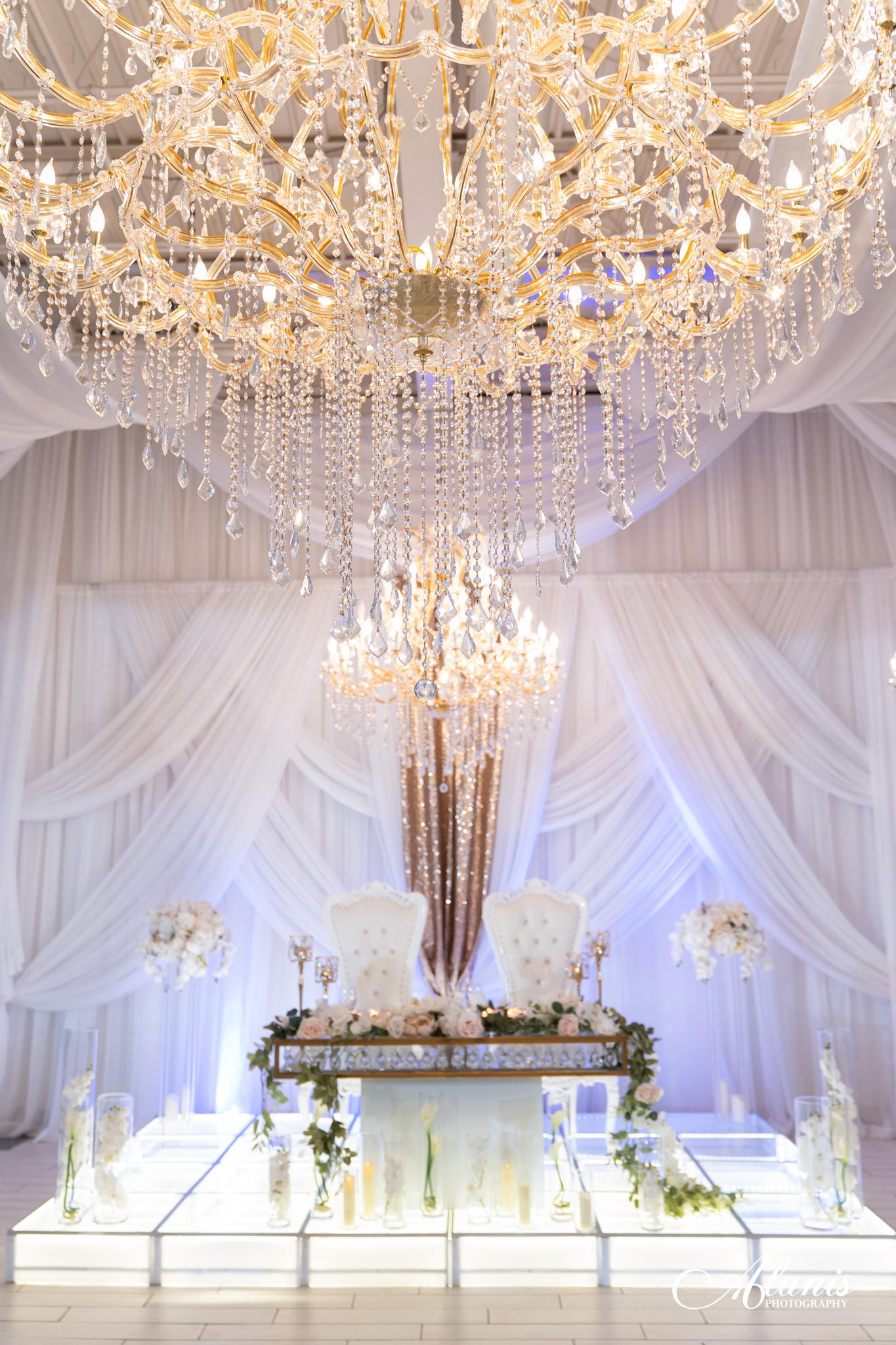 LeVenue front ballroom table