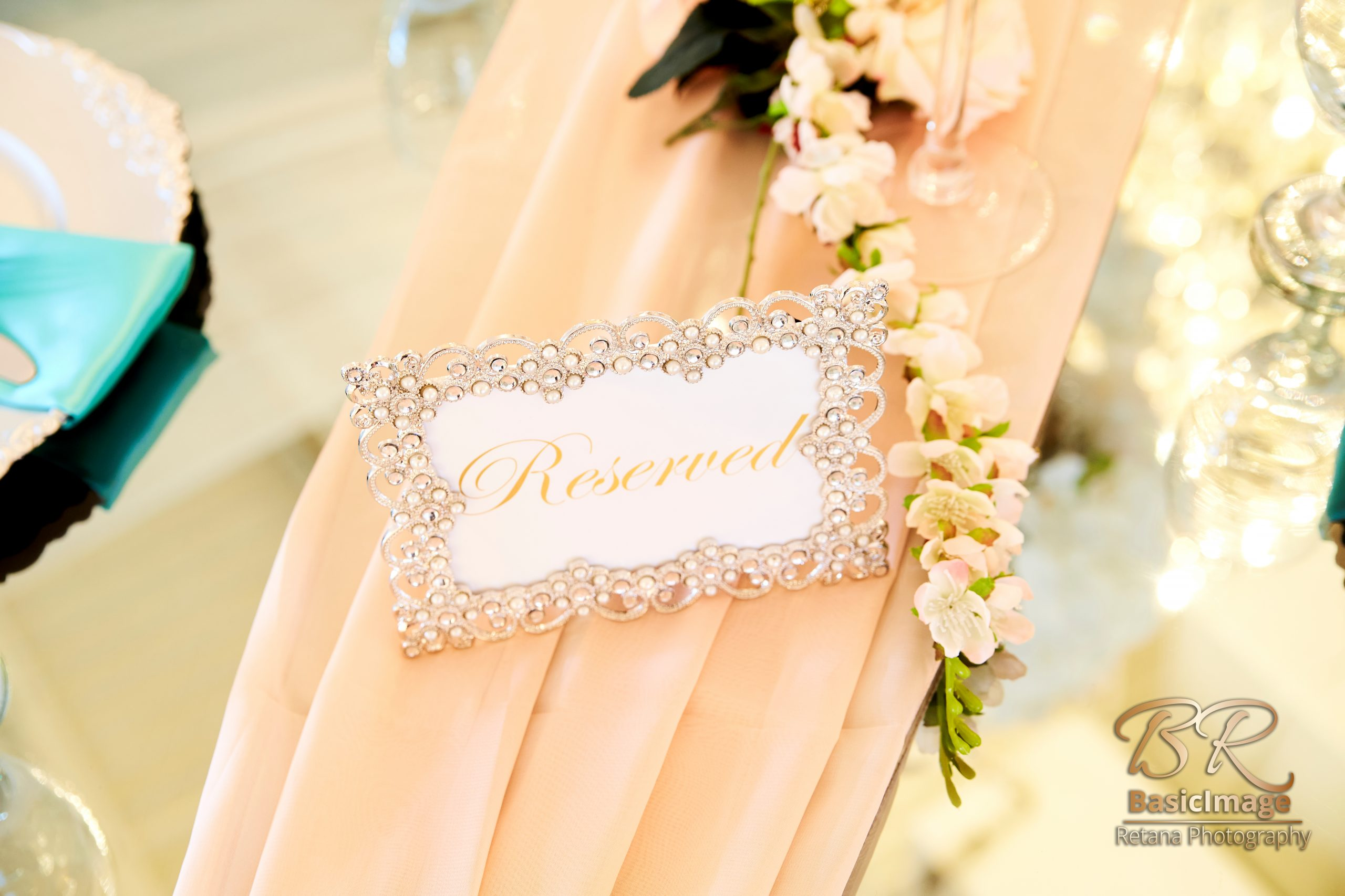 LeVenue dining reserved sign decor