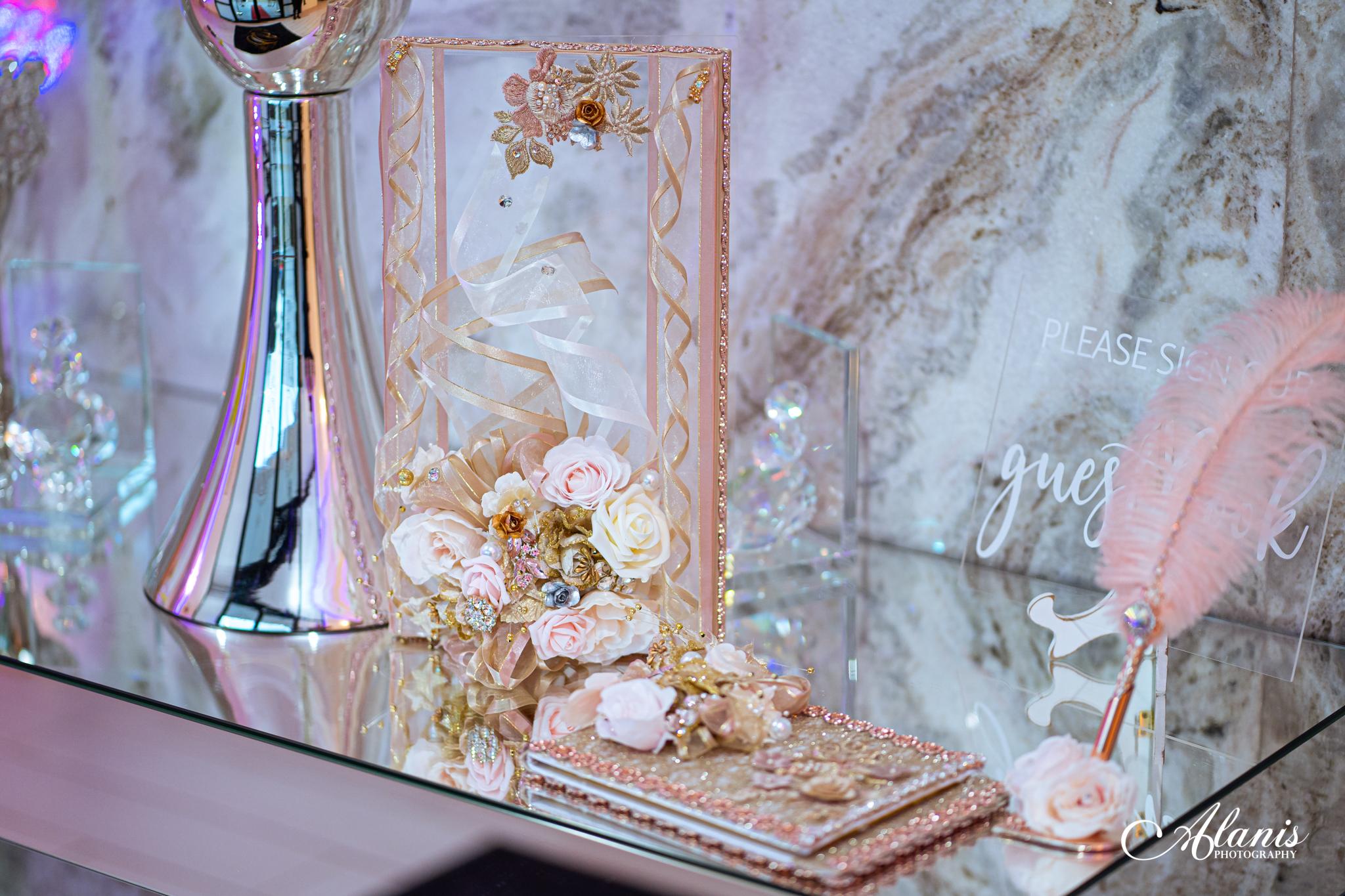 LeVenue Quinceañera front entrance decor