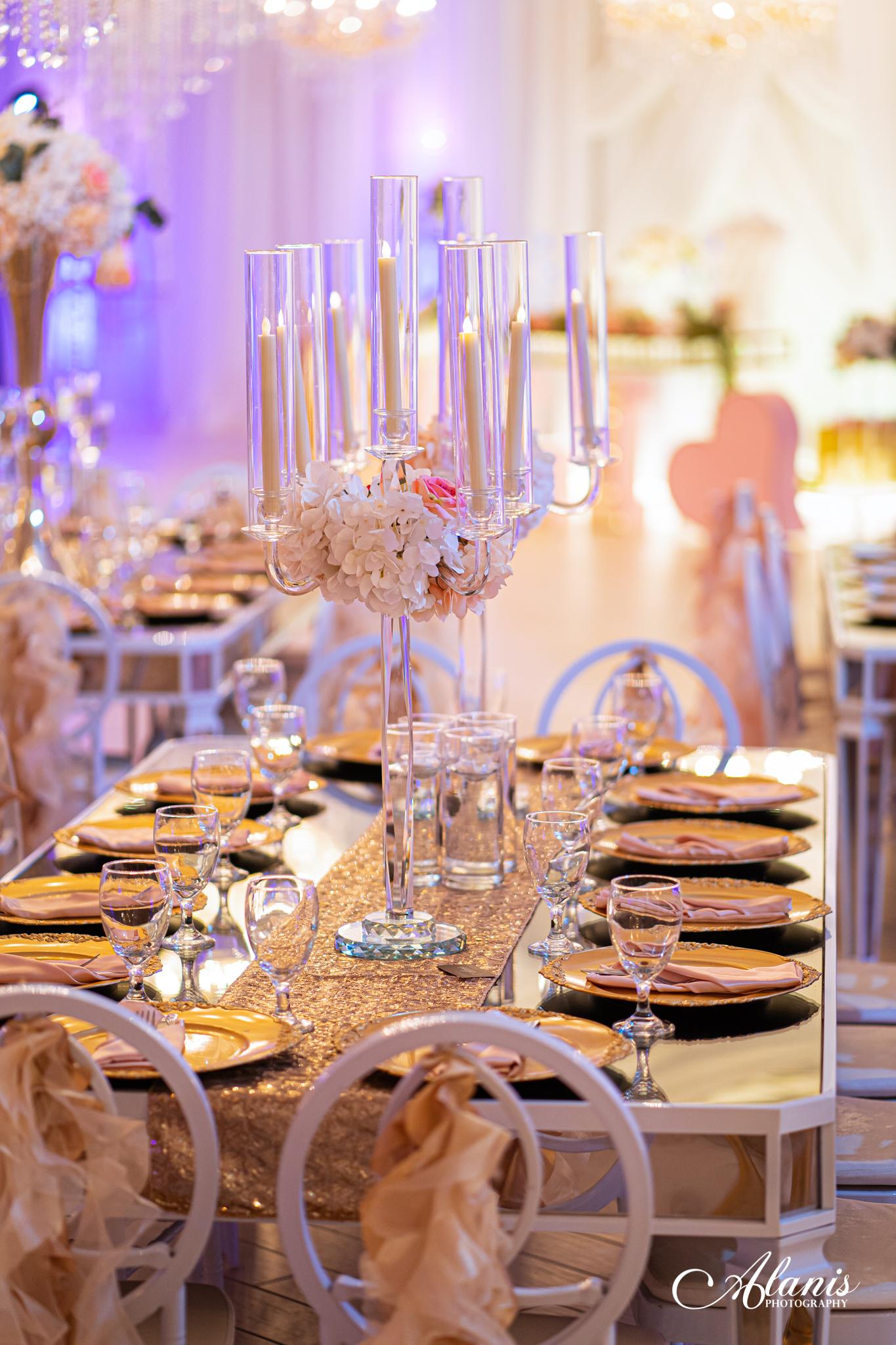 LeVenue Quinceañera dining decor