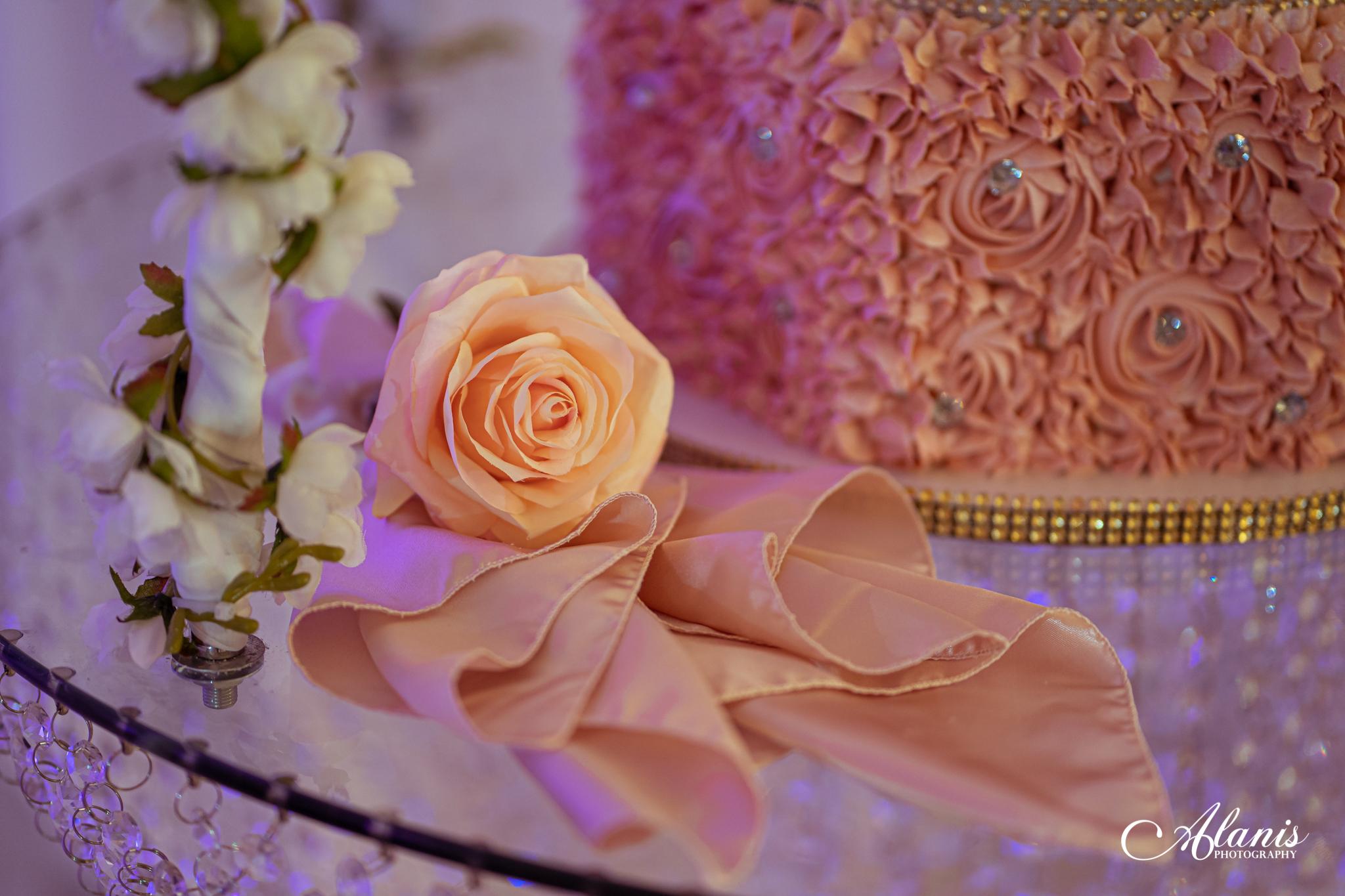 LeVenue Quinceañera cake decor